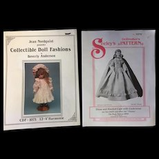2 x Doll's Patterns Parian & Bebe