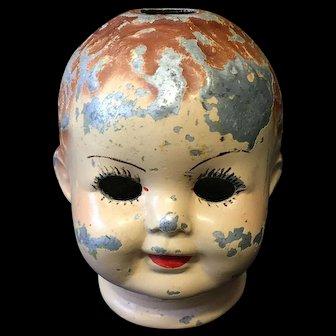 Vintage Metal Dolls Head