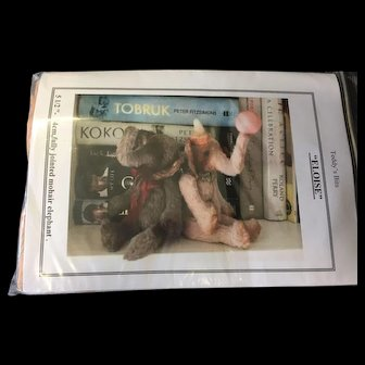 """5 1/2"""" Pink Mohair Elephant Kit Fully Jointed"""