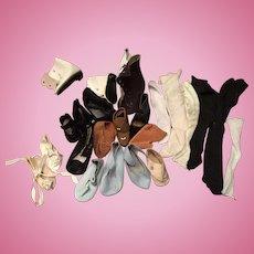 Lot of Vintage Single Shoes, Boots & Socks