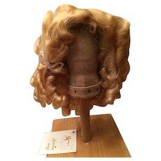 "Beautiful Vintage Blonde Mohair Doll Wig 10"""