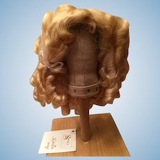 Beautiful Vintage Blonde Mohair Doll Wig 10""