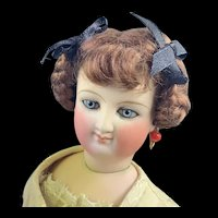 """Lovely Brown Mohair Wig for Fashion Doll 5 1/2"""""""