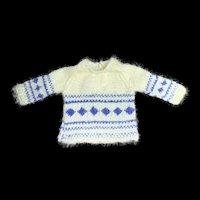 Lovely Knitted Boy's Doll Jumper