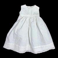 Vintage White Cotton Petticoat for Antique Doll