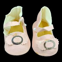 Pale Pink Vintage Doll Shoes