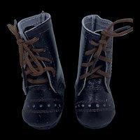 Vintage Pair Brown Doll Boots