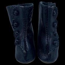 Beautiful Vintage Hand Made Dolls Leather Boots