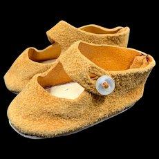 Cute Vintage Suede Doll Shoes
