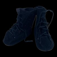 Vintage Suede Doll Boots