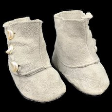 Vintage Pair Suede Doll Boots