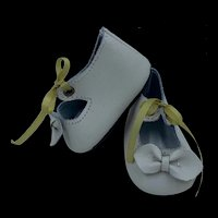 Vintage Pair Leather Doll Shoes