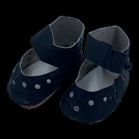 Nicely Hand Made Vintage Leather Doll Shoes