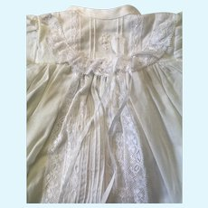 Stunning Dolls Cotton Gown, Bonnet, Petticoat & Pant Set with Lace & Pin Tucks