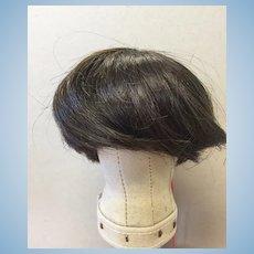 """Vintage Human Hair Brown Doll Wig 10-11"""""""