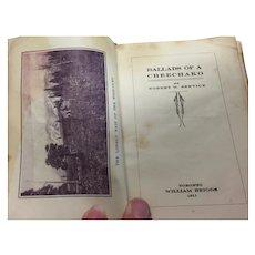 Ballads of A Cheechako Poem Book by Robert W Service Dated 1911
