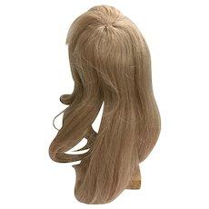 """Vintage Human Hair Blonde Doll Wig 10"""" - 11"""""""