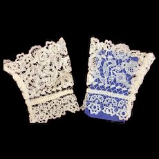 Beautiful Pair of Antique Lace Cuffs