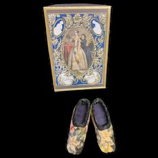 Artist Made French Fashion Doll Petite Point Shoes