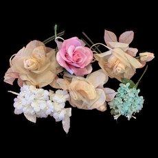 Lot of Vintage Millinery Flowers