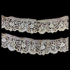 Pair of Antique Victorian Lace Panels