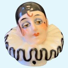 Stunning Pierrot Half Doll - Beautiful Painting