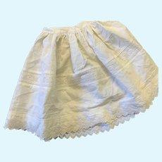 Vintage Dolls Cotton & Pin tuck Half Petticoat