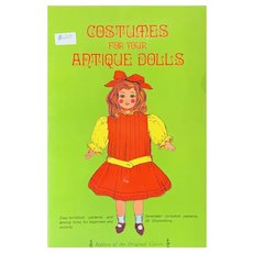 Costumes for your Antique Dolls Vintage Book