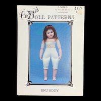 Vintage Doll Pattern for a Bru Jne Body