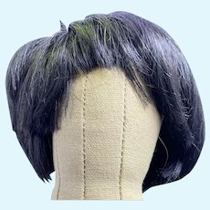 "Sweet Vintage Human Hair Toddler Doll Wig Size 9"""