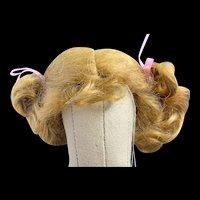 """Sweet Vintage Dark Blonde Mohair Wig 6.5"""""""