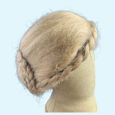 "Dark Blonde Mohair Wig or Fashion Doll 8"""