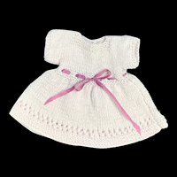 Adorable Mauve Finely Knitted Dress for All Bisque or Small Doll