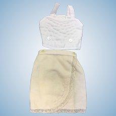 Wool Flannel Petticoat & Corset/Stay for Bebe Doll