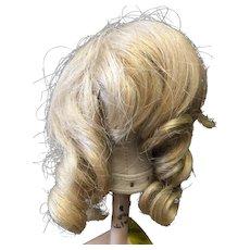 "Vintage Human Hair Doll Wig 10"" - 11"""