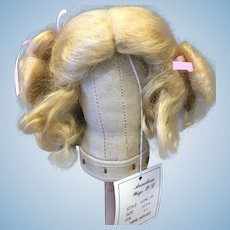 Vintage Mohair Blonde Doll Wig size 9-10""