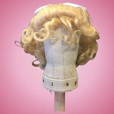 Beautiful Blonde Vintage Mohair Doll Wig