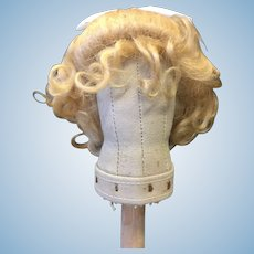 Beautiful Blonde Vintage Mohair Doll Wig