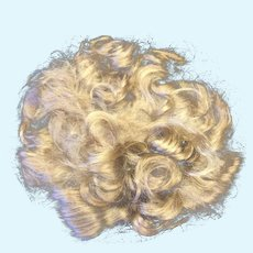 Lovely Vintage Handmade Mohair Toddler Doll Wig