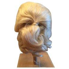 "Vintage Blonde Mohair Doll Wig 10-11 1/2"""