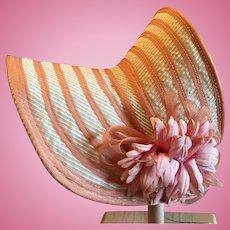 Wonderful Vintage Straw Doll Bonnet