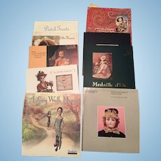 8 Theriault Catalogs & 1 Sotheby's Doll Catalog