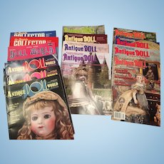 14 x Antique Doll Collector, Antique Doll World, The Inside Collector & Doll World Magazines