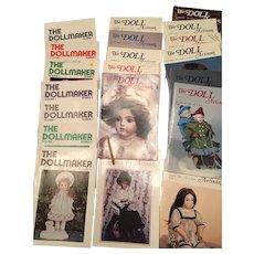 13 x Vintage Doll Artisan & 7 x Vintage The Dollmaker Magazines