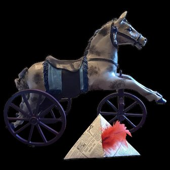Hobby Horse Toy on Wheels - Great Doll Prop!