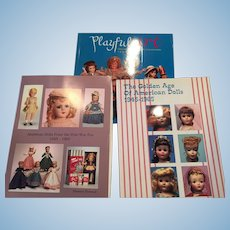 3 books/catalogs of America Dolls 1900 - 1965
