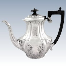 Antique Victorian Sterling Silver Coffee Pot 1899