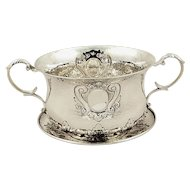 Antique Edwardian Sterling Silver Porringer & Lid 1902
