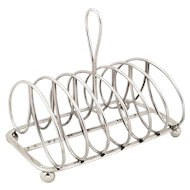 Antique Georgian Sterling Silver Toast Rack 1821