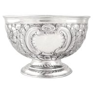 Antique Sterling Silver Bowl on Pedestal Base 1900
